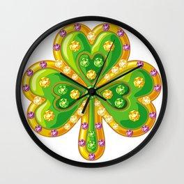 Jewelry shamrock Wall Clock