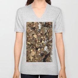 Golden Pyrite Mineral Unisex V-Neck
