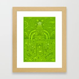 green knight Framed Art Print