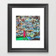 NUM NUM on Colourful house  Framed Art Print