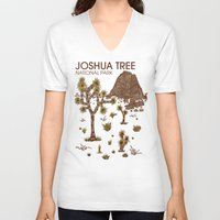 the national V-neck T-shirts featuring Joshua Tree National Park by Hinterlund
