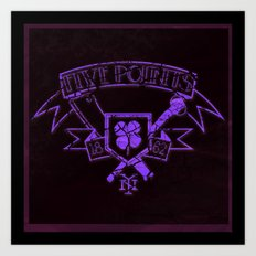 Copper: Five Points Coat of Arms Art Print