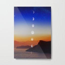 Moon phases #1 Metal Print