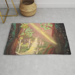 Faery forest cave Rug