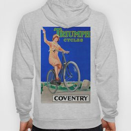 Vintage British Cycling Poster Hoody