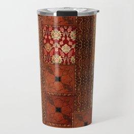 Vintage textile patches Travel Mug
