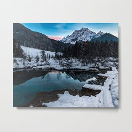 Zelenci springs at dusk Metal Print