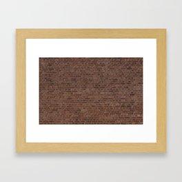 NYC Big Apple Manhattan City Brown Stone Brick Wall Framed Art Print