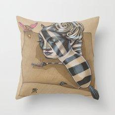 ZEBRA MAMA  Throw Pillow