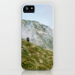 Hiker in the Pyrénées iPhone Case