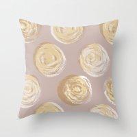 dot Throw Pillows featuring Dot by Katie L Allen
