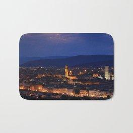 Panorama of Duomo Santa Maria Del Fiore, tower of Palazzo Vecchio. Bath Mat