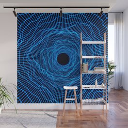Black hole -futuristic space- Neon blue Wall Mural