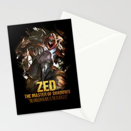 League of Legends ZED - The Master Of Shadows - Video games Champion Stationery Cards