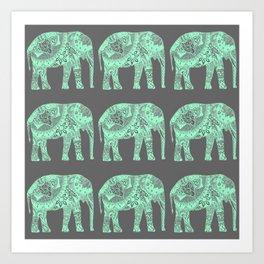 Elephants I Art Print