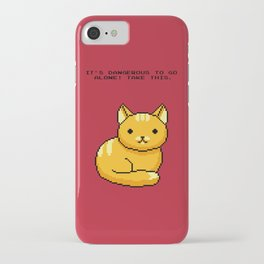 ITS DANGEROUS TO GO ALONE Take This Cat iPhone Case