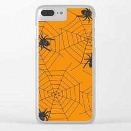 Halloween Spider Illustration Clear iPhone Case