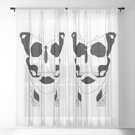 Deadly Flutter Sheer Curtain