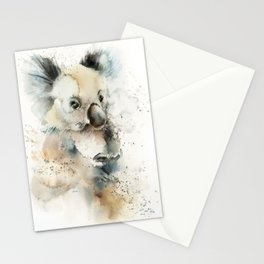 Koala loose style watercolor painting Stationery Cards