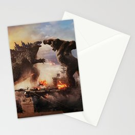 Godzilla vs King Kong Moster Fight Movies Art Print Decor Home Poster Stationery Cards