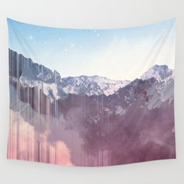 Glitched Mountains Wall Tapestry