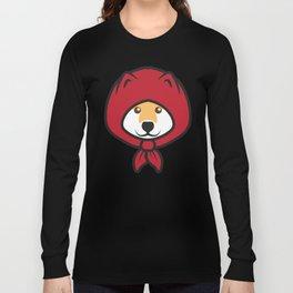 Red Riding Shibe Long Sleeve T-shirt