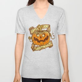 Halloween orange Unisex V-Neck