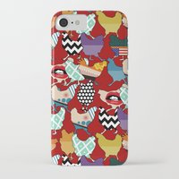 cincinnati iPhone & iPod Cases featuring Cincinnati Chickens red by Sharon Turner