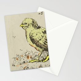 feel the earth tremble (or monster chick) Stationery Cards
