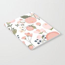 Pink Flower Pattern Notebook