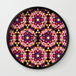 Tiny Floral Pattern Wall Clock