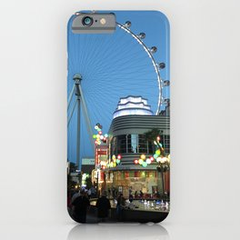 High Roller Observation Wheel in Las Vegas iPhone Case
