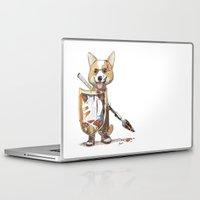 bouletcorp Laptop & iPad Skins featuring Corgi Barbare by Bouletcorp