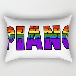 Rainbow Piano Rectangular Pillow