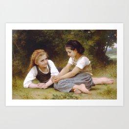 William Bouguereau - Les Noisettes [Hazelnuts] 1882 Art Print