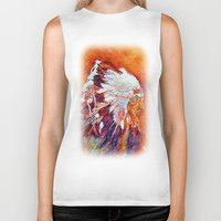 native american Biker Tanks featuring Native American by LiliyaChernaya