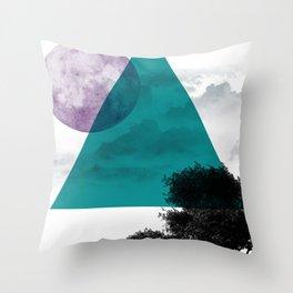 Free on The Moon Throw Pillow