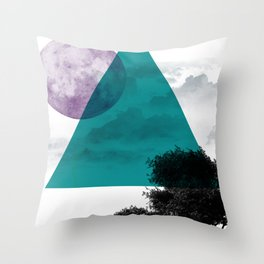 Free on The Moon Throw Pillow
