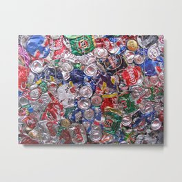 Trashed Cans Painting Over Photo Metal Print