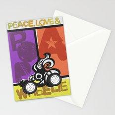 Peace, Love & Pop a Wheelie! (I) Stationery Cards