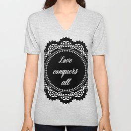 Love conquers all Unisex V-Neck