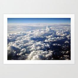 Cloud-Swept Mountain Range Art Print