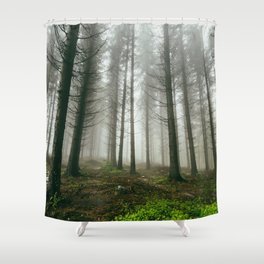 Follow me into the woods Shower Curtain