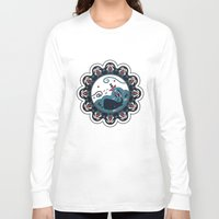 the whale Long Sleeve T-shirts featuring whale by gazonula