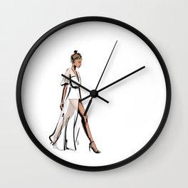 White dress Wall Clock