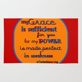 My Grace is Sufficient  (2) Rug