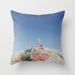 Salvation Mountain XII / Slab City, California Throw Pillow