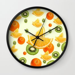 TROPICAL KIWI-ORANGES KITCHEN ART Wall Clock