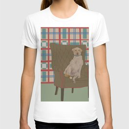 Dog in a chair #5 Golden Lab T-shirt