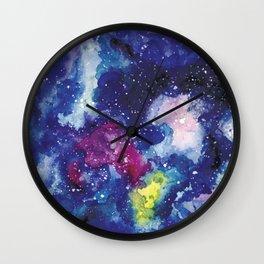 Galaxy Watercolor Wall Clock